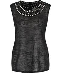 Černý top s detaily Vero Moda Silvana