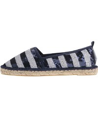Bílo-modré flitrované loafers Tamaris