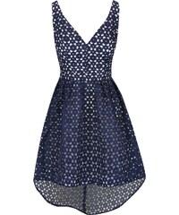 Tmavě modré vzorované šaty Chi Chi London Leanne