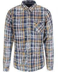 Žluto-modrá kostkovaná vintage košile s oranžovými pruhy !Solid Samu