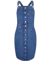 Modré lacláčové propínací šaty Dorothy Perkins