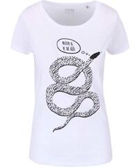 Bílé dámské tričko ZOOT Originál Necítím se ve své kůži