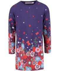 Fialové holčičí šaty s květinovým vzorem a motýlky Bóboli