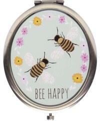 Oválné kapesní zrcátko se včelami Sass & Belle