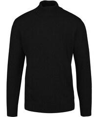Černý lehký svetr s rolákem Shine Original