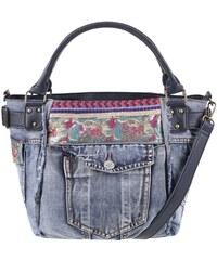 Modrá džínová kabelka s kapsou Desigual McBee Ethnic