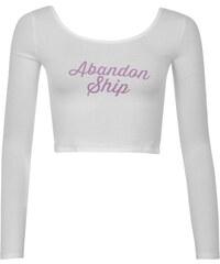 Abandon Ship Long Sleeved Crop Top Ladies, script