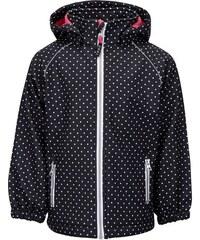 Černá puntíkovaná holčičí softshell bunda name it Alfa