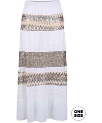 Bílá sukně ozdobená flitry ZOOT Now
