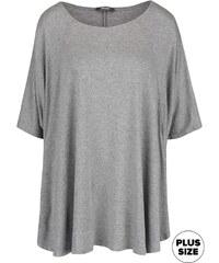 Šedé dámské volnější tričko s netopýřími rukávy ZOOT simple