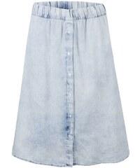 Světle modrá denimová midi sukně Cheap Monday
