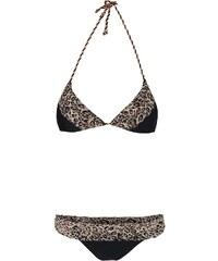 Černé dvoudílné plavky s leopardím vzorem Relleciga