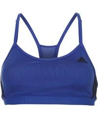 Adidas Three Stripe Strappy Bra Womens, bold blue