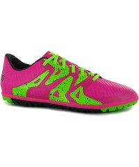 Adidas X 15.3 Junior Artificial Turf Trainers, shock pink