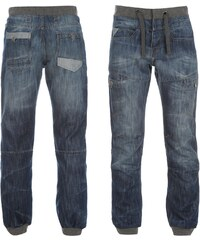Airwalk Cuffed Jogger Jeans Mens, mid wash