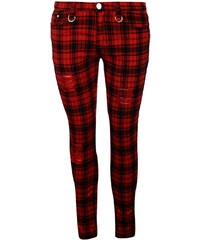 Banned Tartan Jeans Ladies, red
