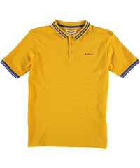 Ben Sherman 66T Short Sleeved Juniors Polo Shirt, yellow