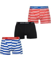 Jack and Jones Straight 3 Pack Trunks Mens, multi