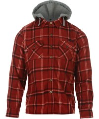 Lee Cooper Hooded Fleece Shirt Junior, red/navy/ecru