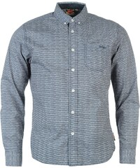 Lee Cooper Long Sleeve All Over Pattern Textile Shirt Boys, blue/white aop