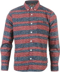 Lee Cooper Long Sleeve All Over Pattern Textile Shirt Boys, red/blue aop