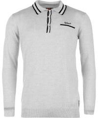 Lee Cooper Merino Wool Polo Top Mens, grey marl