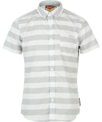 Lee Cooper Short Sleeve All Over Pattern Textile Shirt Boys, wht/grystrp aop