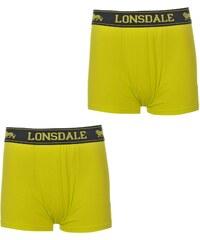 Lonsdale 2 Pack Trunk Junior Boys, lime/black