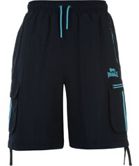Lonsdale Two Stripe Cargo Shorts Mens, navy/brblue