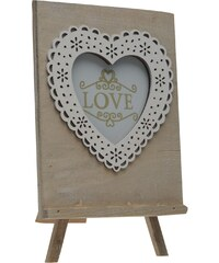 Mega Value Wood Heart Detail Photo Frame, wood