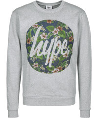 Hype Flower Circle Sweater grey