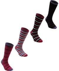 Miss Fiori Striped 4 Pack Socks, -