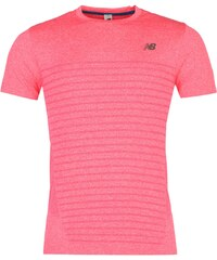 New Balance Seamless Short Sleeve Top Mens, bright cherry
