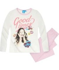 Disney Soy Luna Pyjama rosa in Größe 128 für Mädchen aus 100% Baumwolle