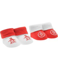 Penguin 123 Two Pack Booties Unisex Babies, white/red