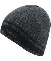Pierre Cardin Knit Beanie Mens, charcoal marl