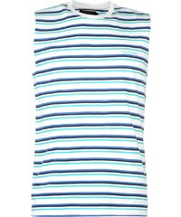 Pierre Cardin Yarn Dye Sleeveless Tshirt Mens, white