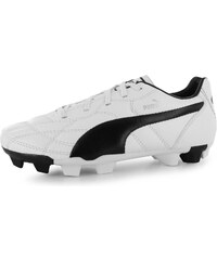Puma Classico Childrens FG Football Boots, white/black