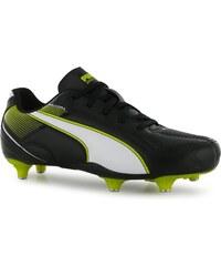 Puma Esquadra Soft Ground Football Boots Junior, black/white