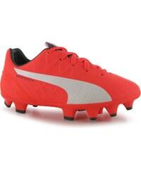 Puma evoSpeed 4 Childrens Firm Ground Footbal Boots, lava blast