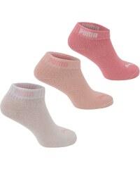 Puma Girls Quarter Socks 3 Pack, pink