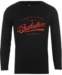 Quiksilver CrimeWave Long Sleeved Junior T Shirt, black