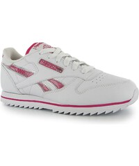 Reebok Classic Etched Junior Girls Trainers, white/candypink