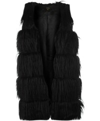 Rock and Rags Faux Fur Gilet, black