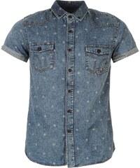 Smith Disclosure Shirt Mens, mid blue denim