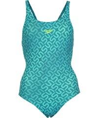 Speedo Mono All Over Print Swimming Costume Ladies, blue/yellow