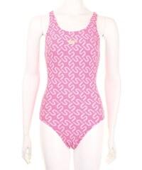 Speedo Swimsuit Ladies, lipstick/white