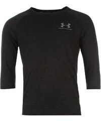 Under Armour Triblend Three Quarter Sleeve Crew TShirt Mens, charcoal