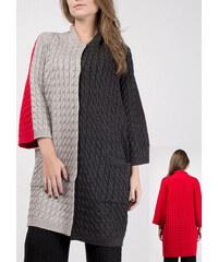 RITO Dámský pletený kabát francouzského stylu