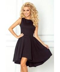 f52cbc617028 Numoco Černé šaty s nabíranou sukní Lacosta